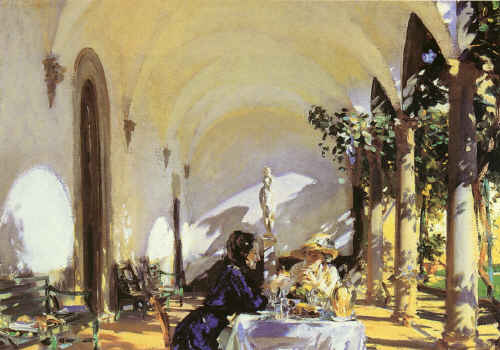 Breakfast in the Loggia